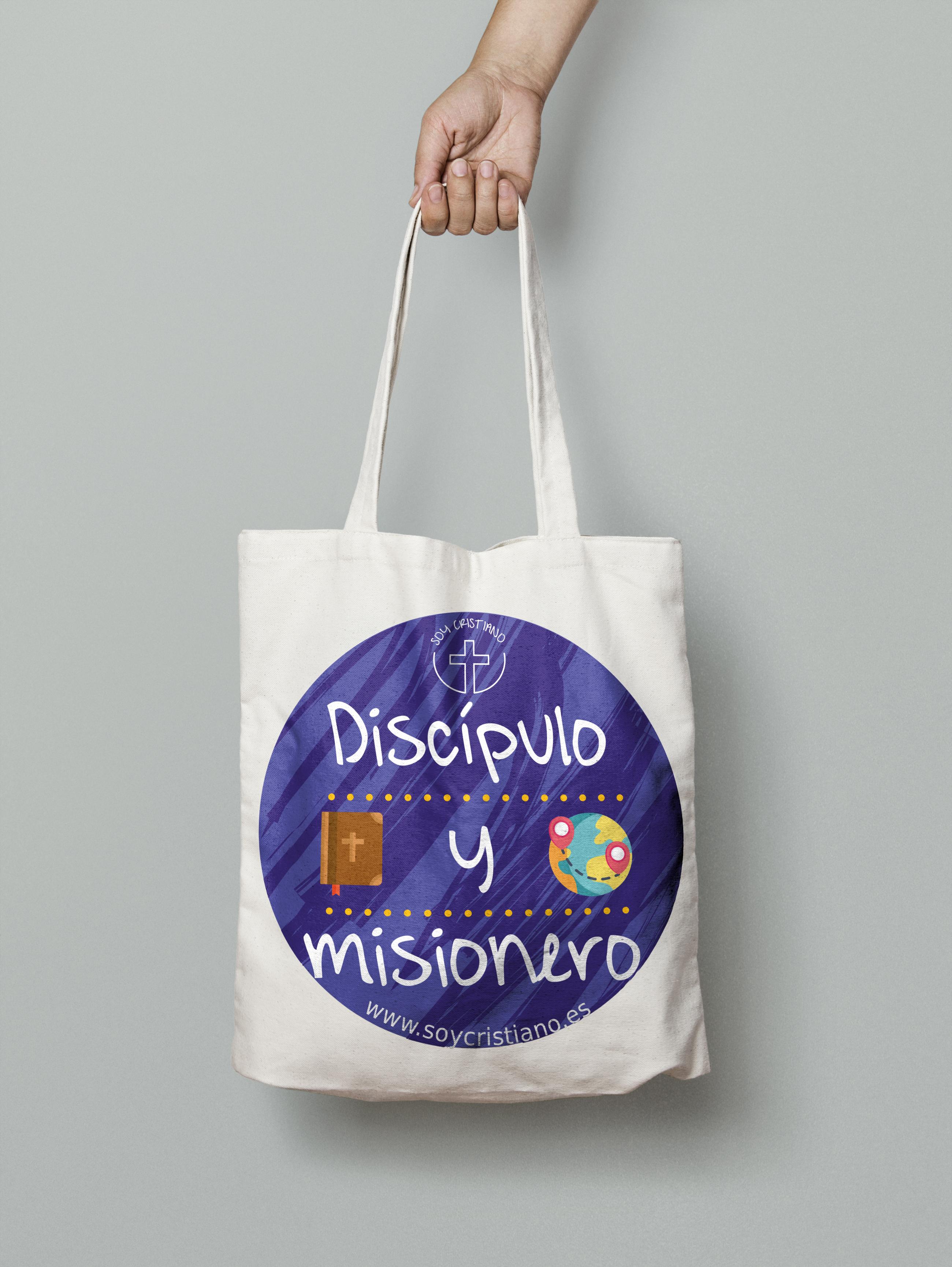 Bolsa De Tela Con Asas Discípulo Y Misionero
